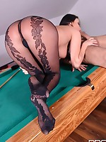 Pot That Rod: Fucking Feet And Pussy On Billiard Table! free photos and videos on DDFNetwork.com