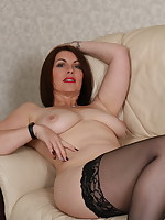 Hairy British MILF getting very naughty